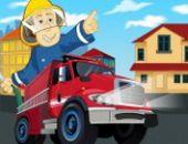 Caminhão De Bombeiros Emergência Estacionamento