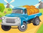Estacionamento de Caminhões leitoso