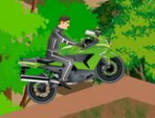 Moto Floresta Andar De Bicicleta