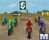 O círculo e a Corridas De Motocross