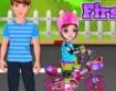 Menina Primeira Bicicleta